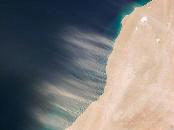 foto satellitare, tempesta, sahara