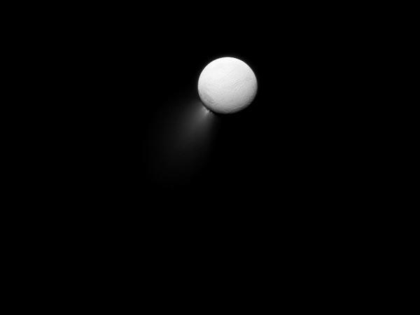 Cassini,Encelado, geyser-foto